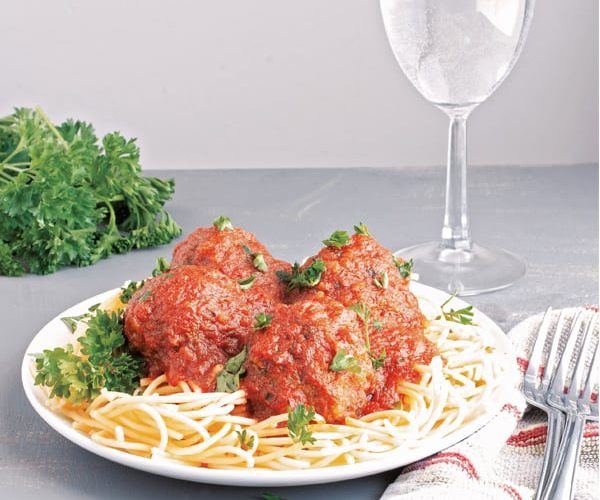 instant pot meatballs and spaghetti