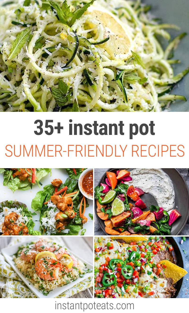 35+ Summer-Friendly Instant Pot Recipes Including Tacos, Summery Soups, Fruity Desserts and more | #summer #bbq #picnic #potatosalad #macaronisalad #salad #cheescake #jams #fruit #nobake