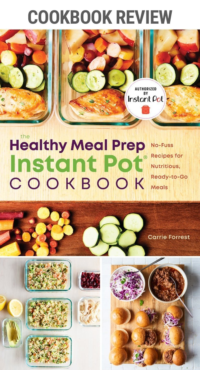 Healthy Meal Prep Instant Pot Cookbook review | #cookbookreview #mealprep #mealplanning #lunch #togo #packedlunch #quickmeal #easymeal #healtheats #cleaneating #quinioa