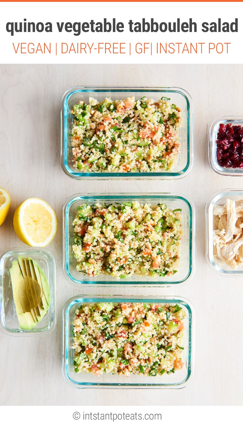 Instant Pot Quinoa & Vegetable Tabbouleh Salad