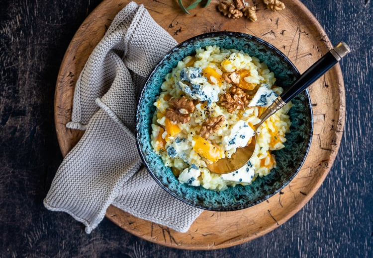Instant Pot Butternut Squash Risotto With Blue Cheese