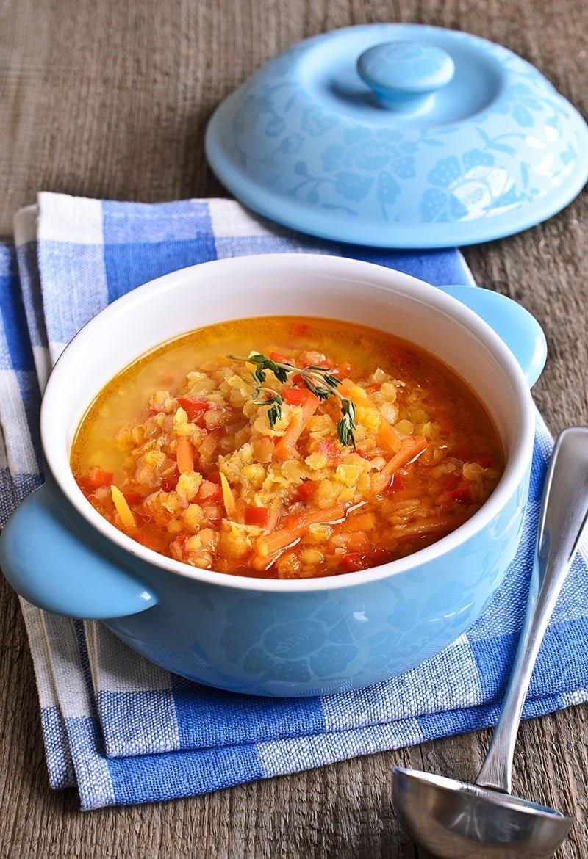 Vegan Instant Pot Lentil Soup (Gluten-free, Low-Calorie)