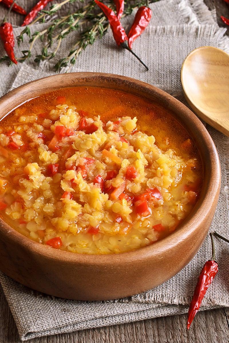 Instant Pot Lentil Soup (Vegan, Gluten-free, Low-Calorie)