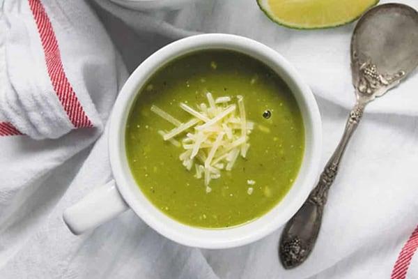 Instant Pot zucchini basil soup