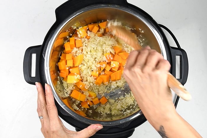 How to make instant pot risotto step 3