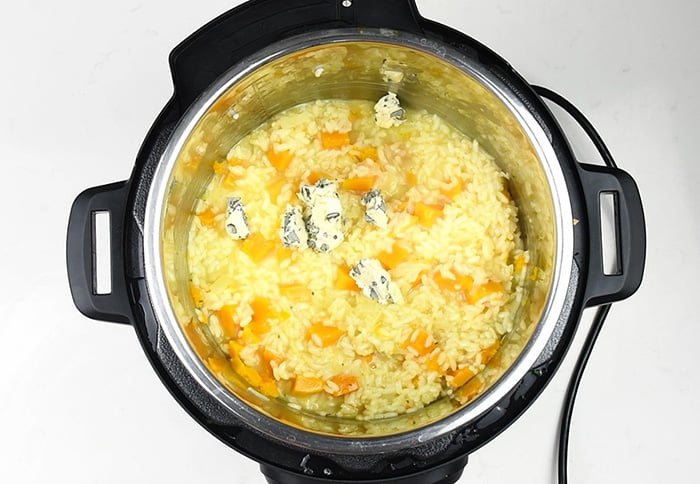 How to make instant pot risotto step 4