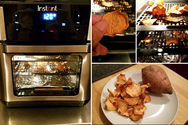 Air Fryer Dehydrated Sweet Potato Chips