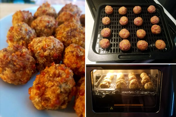 Air Fryer Sausage Balls with Instant Vortex Oven