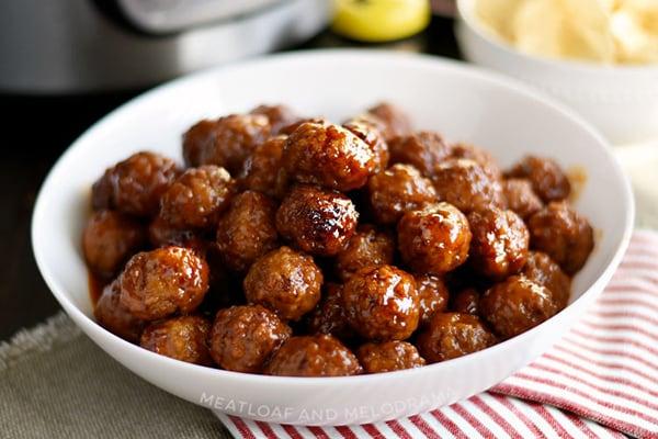Instant Pot Grape Jelly Meatballs