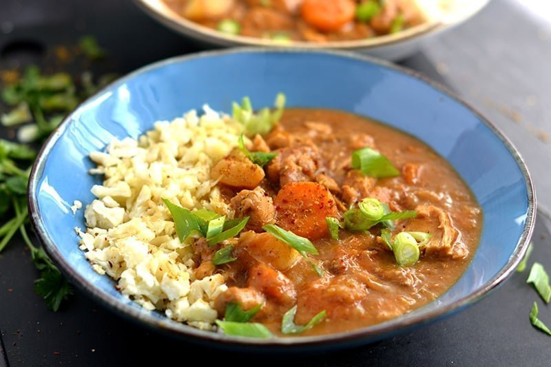 Instant Pot Japanese Curry With Cauliflower Rice