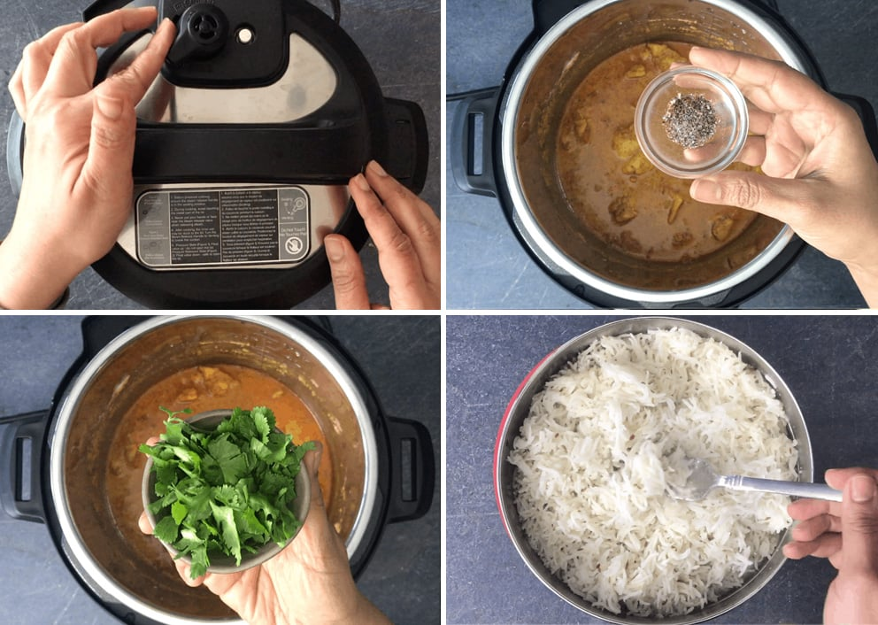 How to cook Instant Pot chicken curry step 3