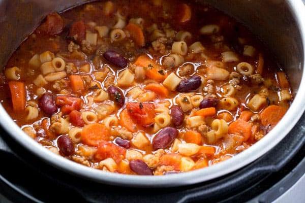Instant Pot Olive Garden Pasta e Fagioli
