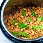 Instant Pot Rice Pilaf With Chickpeas