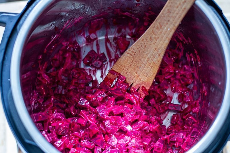 How to make creamed beets with Instant Pot