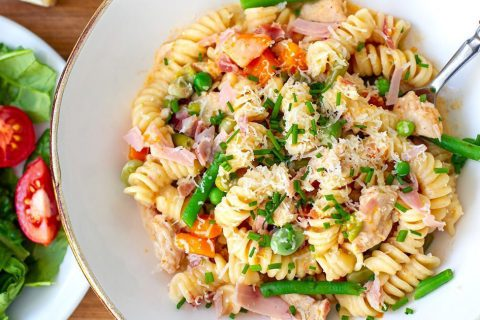 Instant Pot Chicken Pasta With Ham & Vegetables