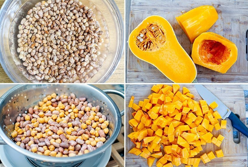 Instant Pot Pinto Beans & Chickpea Stew Ingredients
