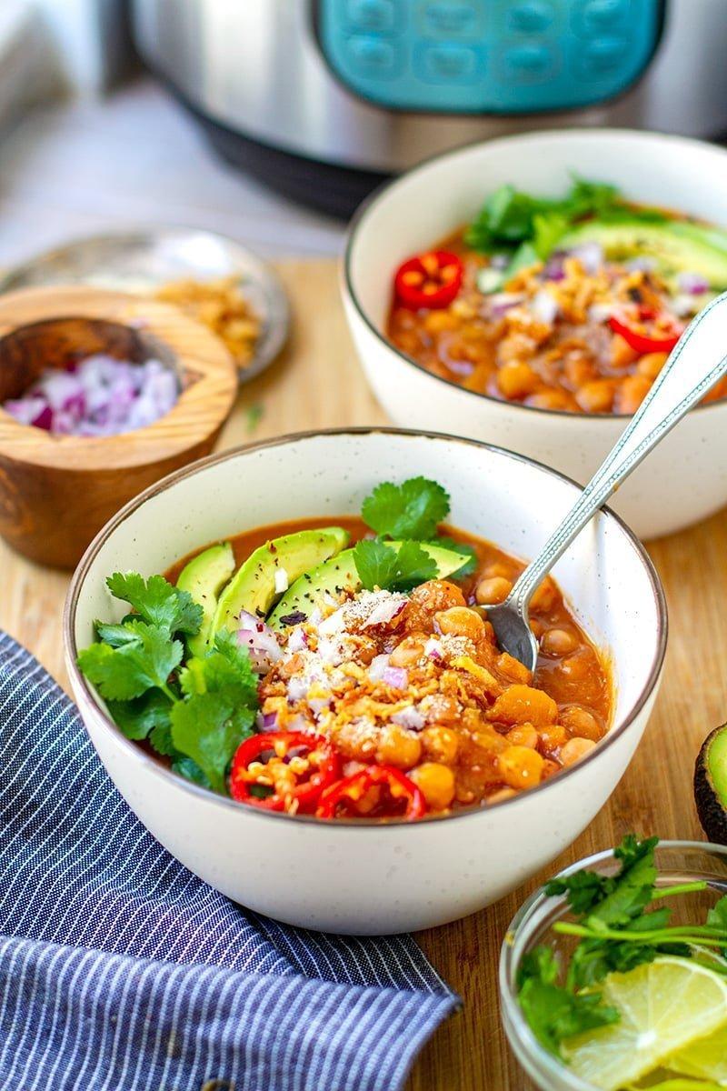 Instant Pot Chili With Pumpkin & Beans (Vegan, Vegetarian, Gluten-Free)