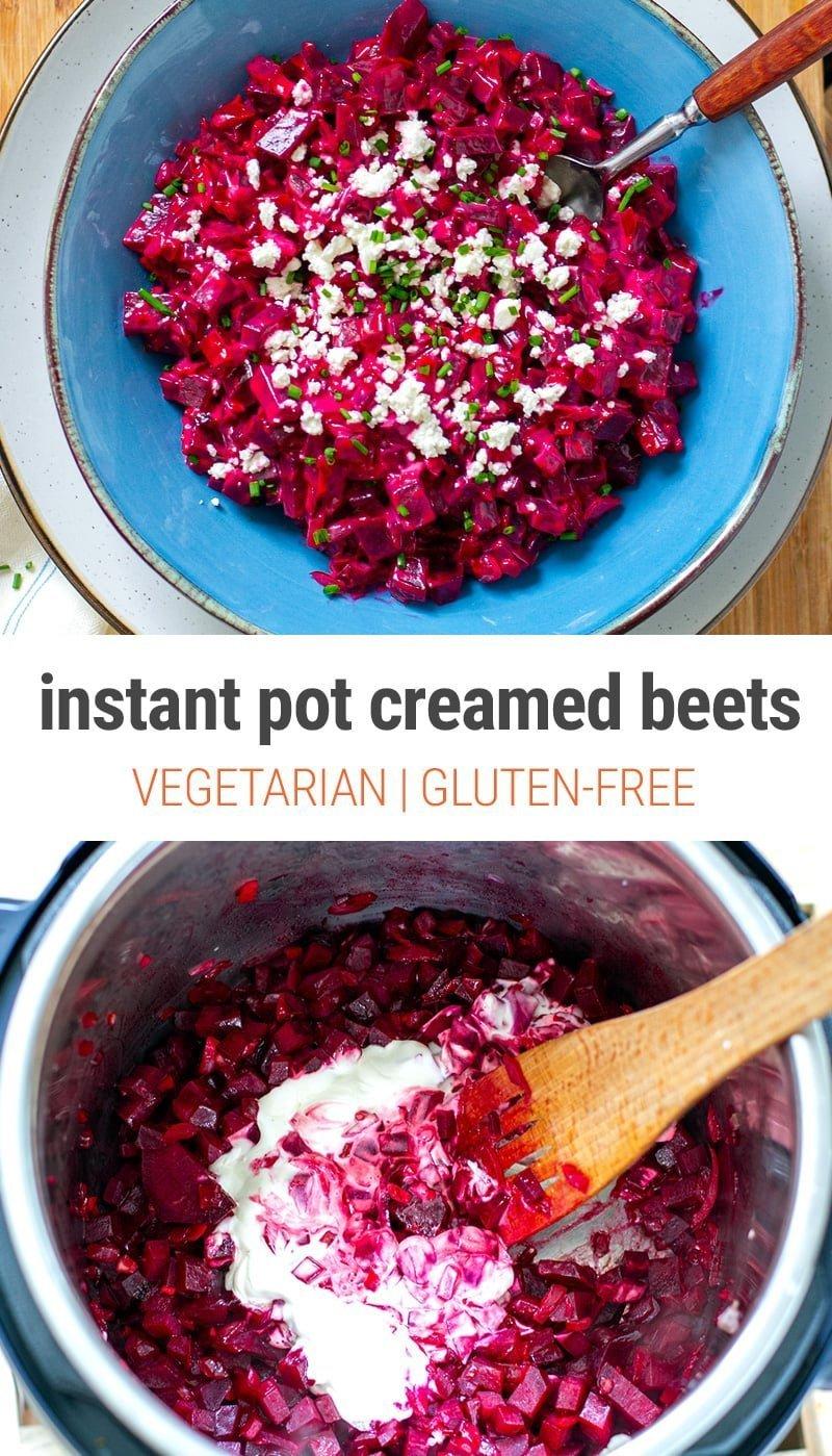 Instant Pot Creamed Beets