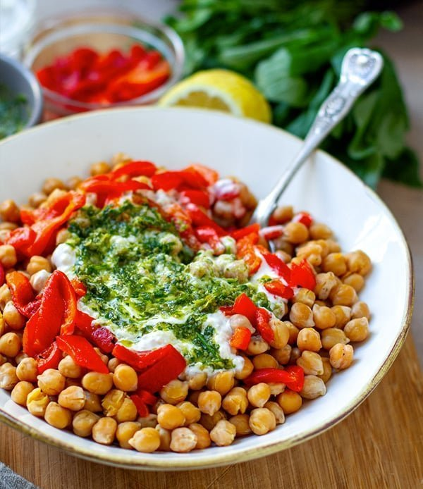 Instant Pot Chickpeas With Salsa Verde