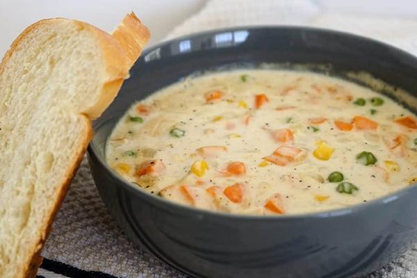 Pressure Cooker Copycat Dixie Stampede Creamy Vegetable Soup