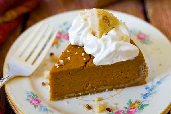 Pressure Cooker Pumpkin Pie