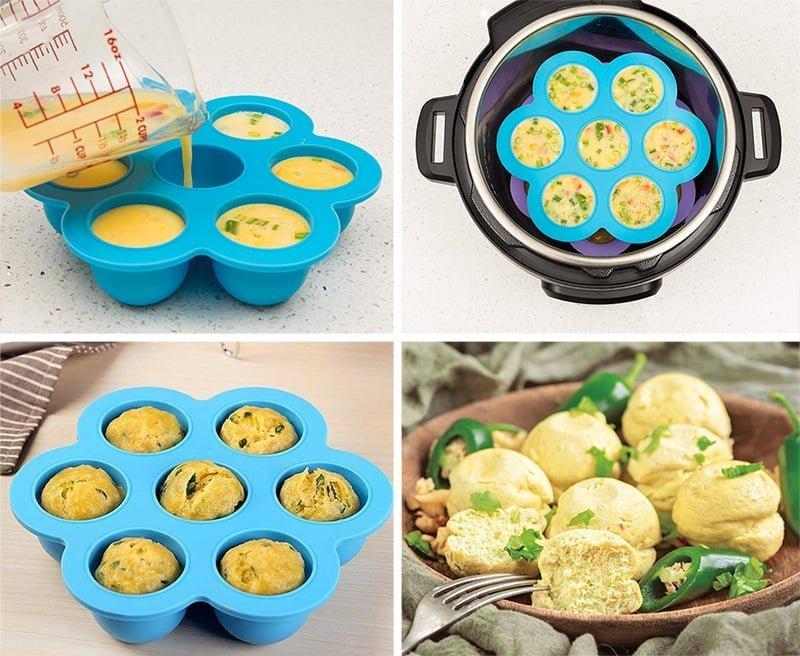 Egg Bites Instant Pot - Steps