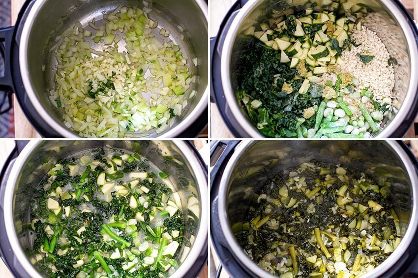 How to make vegan Instant Pot risotto - Step 1-2