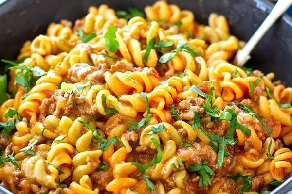 instant pot cheeseburger pasta helper