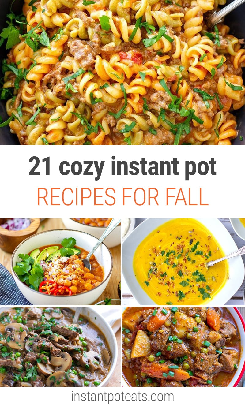 21 Perfectly Cozy Instant Pot Fall Recipes