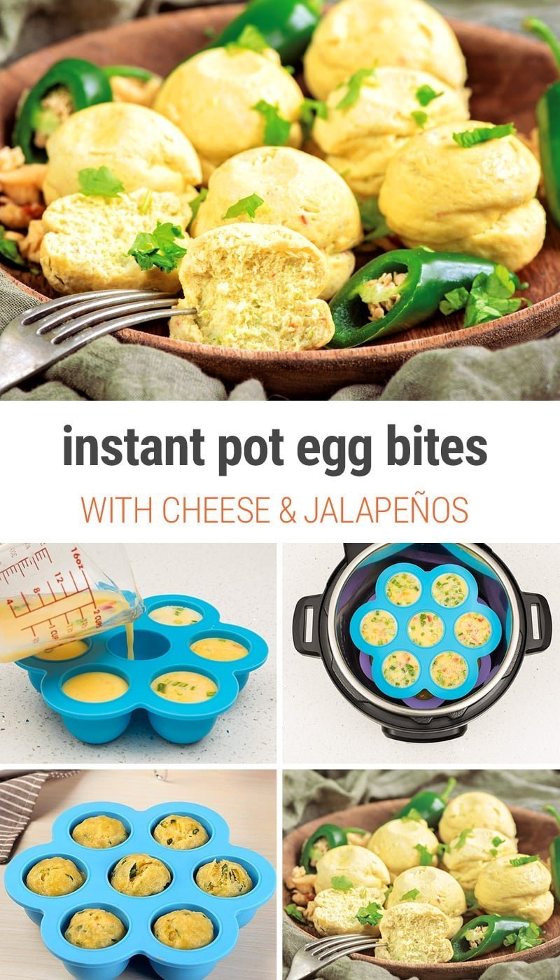 Instant Pot Egg Bites With Cheese & Jalapeños