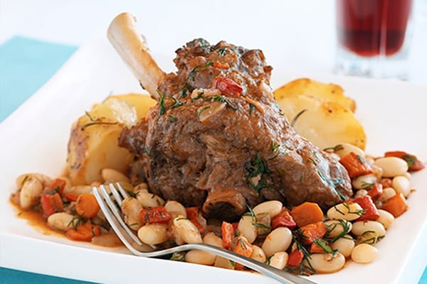 Italian Beef Shanks With White Beans