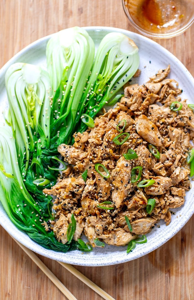 Instant Pot Soy Ginger Chicken (Hibachi Style)