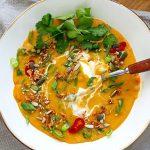 Instant Pot red lentil soup Thai