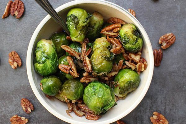 Smoky Pecan Brussels Sprouts In The Instant Pot