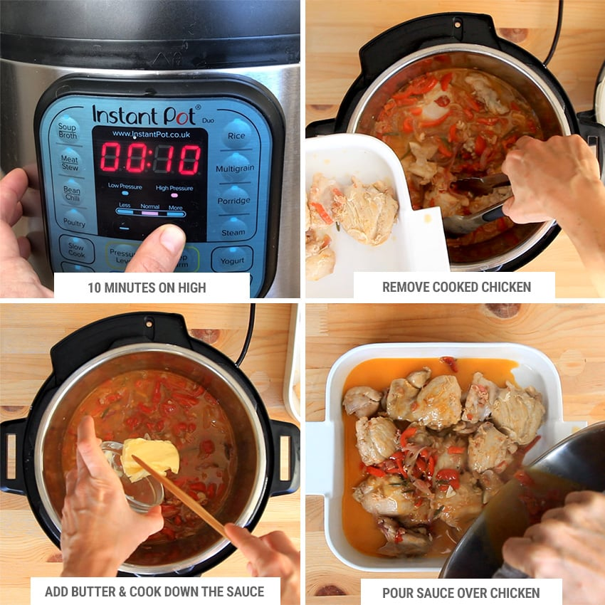 How to cook chicken scarpariello in Instant Pot 2