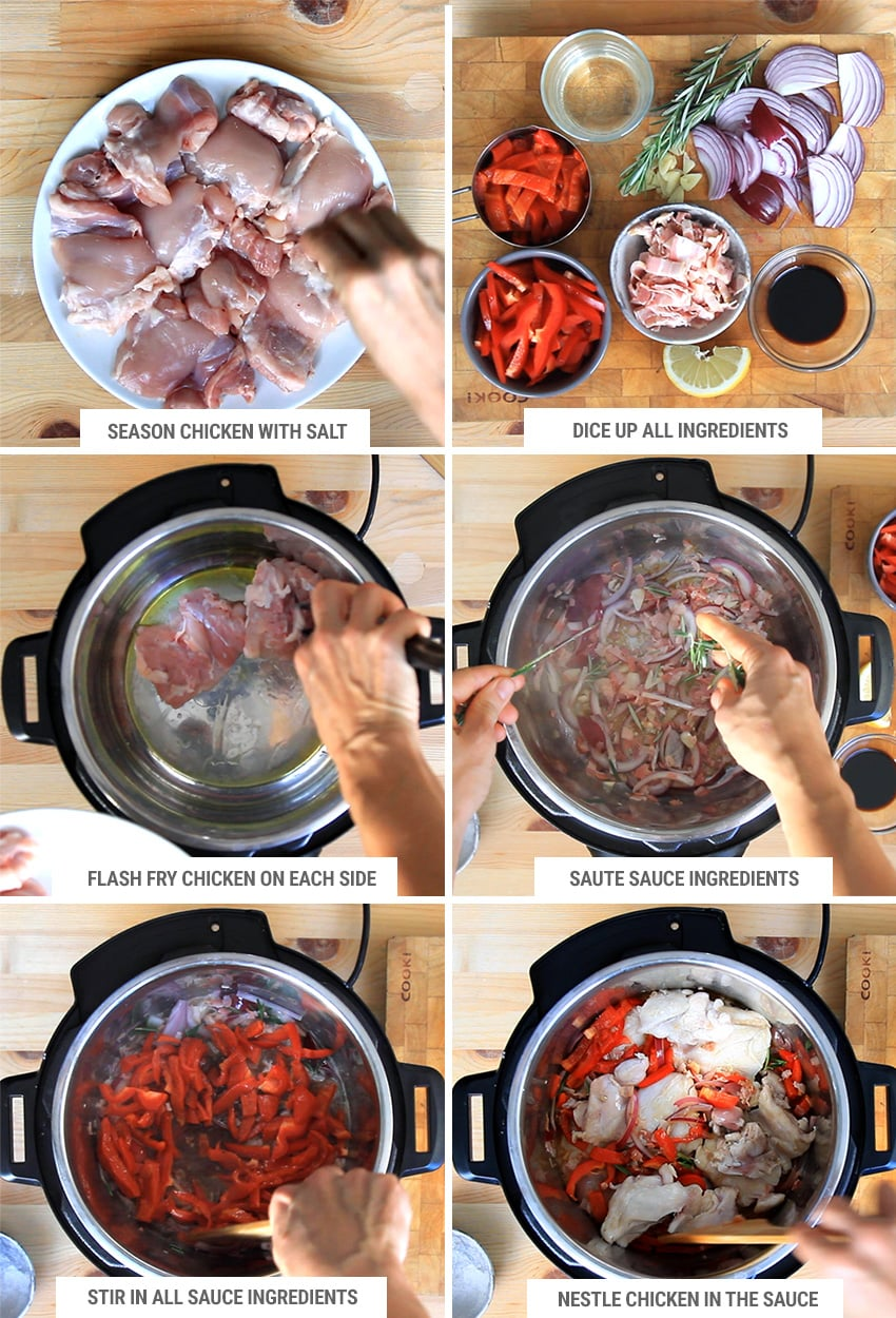 How to make chicken scarpariello in Instant Pot 1