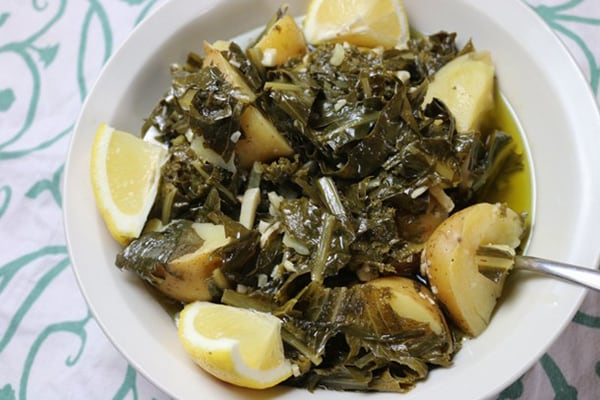Instant Pot Mediterranean Diet Recipes: Horta Greens With Potatoes