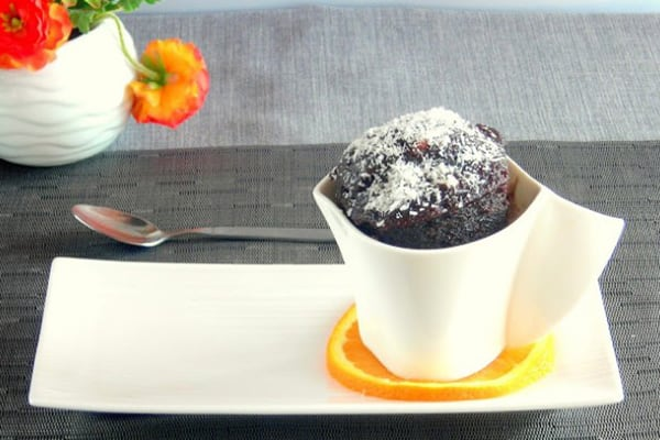 Instant Pot Chocolate, Orange & Olive Oil Mini Lava Cake