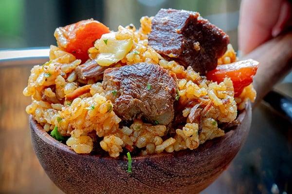 Instant Pot Beef Rice Pilaf (Plov)