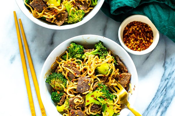 Instant Pot Beef and Broccoli Ramen