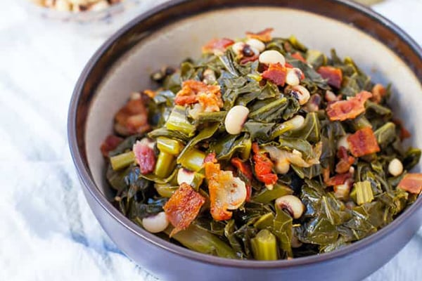 Instant Pot Collard Greens With Bacon & Black-Eyed Peas