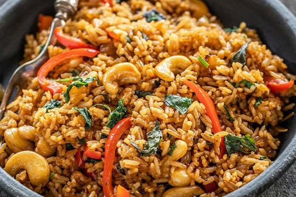 Instant Pot Thai Basil Fried Rice (Vegan)