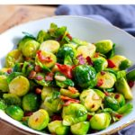 Bacon Garlic Brussels Sprouts (Instant Pot Recipe)