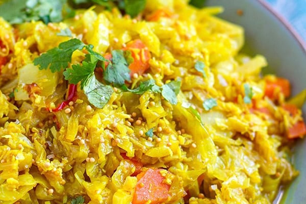 NSTANT POT CABBAGE WITH COCONUT & SPICES (SRI LANKAN STYLE)
