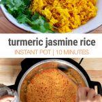 Turmeric Instant Pot Jasmine Rice (Gluten-Free, Vegan)