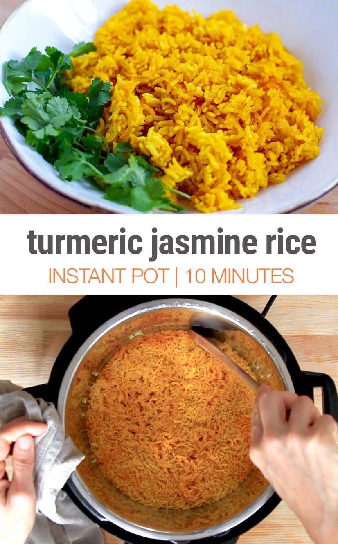 Instant Pot Jasmine Rice With Turmeric