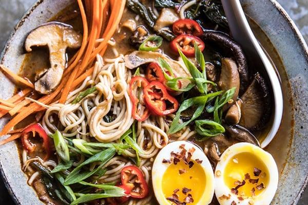 Instant Pot Chicken and Spinach Ramen