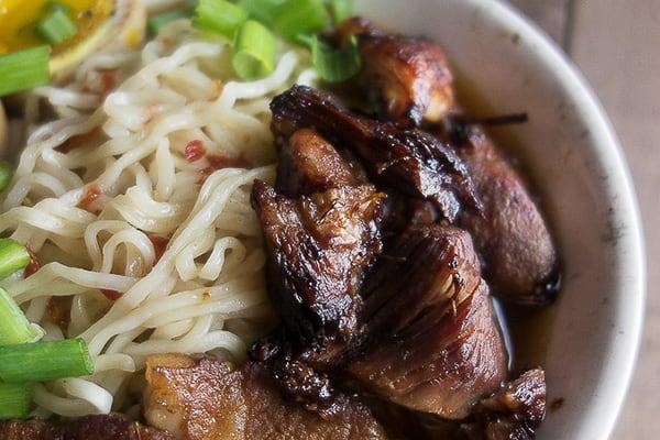 Crispy Instant Pot Caramelized Pork Ramen