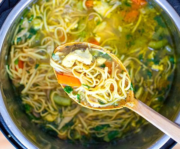 Instant Pot Chicken Noodles Soup