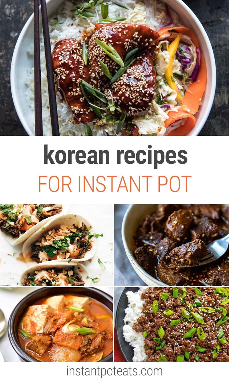 Korean Instant Pot Recipes